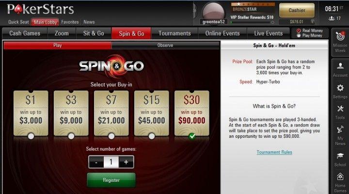 Spin & Go: Un jugador gana 1 millón por 5$