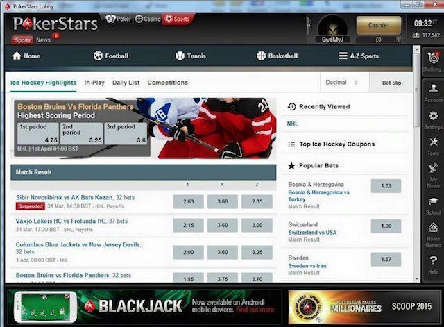 PokerStars y apuestas deportivas