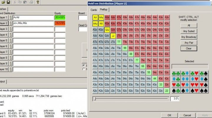 Pokerstove, descarga y funcionamiento
